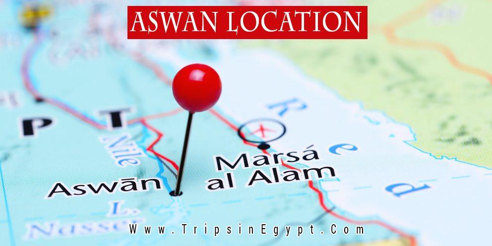 Aswan Location - Trips In Egypt