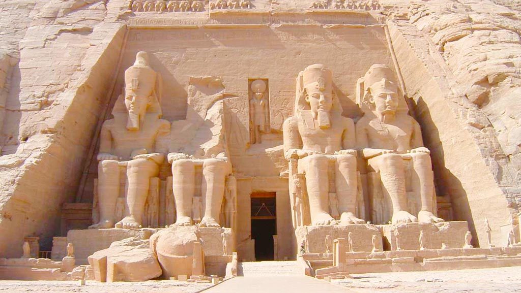 The entrance of the Great Temple of Ramses II