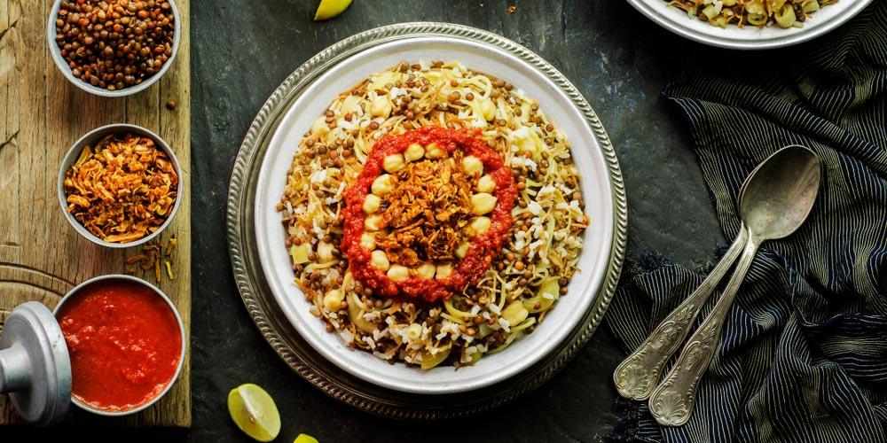 Kushari - Egyptian Food - Trips in Egypt